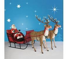 Life size santa sleigh and reindeer Video