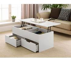 Lift up coffee table with storage Video