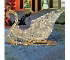Lighted sleigh yard decoration Video