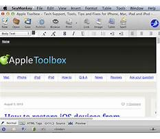 Mac os x html editor Video