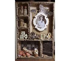 Make a memory jewelry shadow box Video