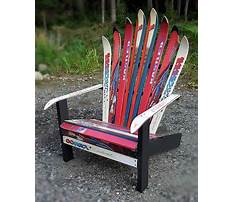 Make adirondack chair from skis Video