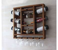 Make your own hanging wine rack Video