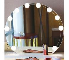 Makeup dresser with mirror and lights Video