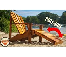 Materials needed to build an adirondack chair Video