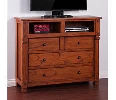 Media dresser in red oak Video