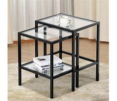Metal end tables with glass tops Video