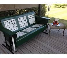 Metal porch glider chairs Video
