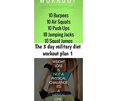 Military diet and exercise Video