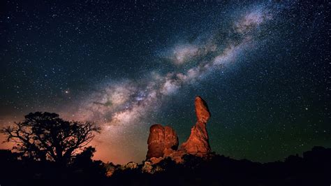 Milky Way From Earth Background