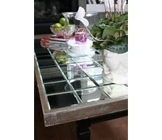 Mirrored coffee table diy Video