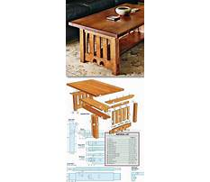 Mission end table plans free Video