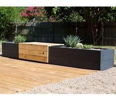 Modern planter bench Video