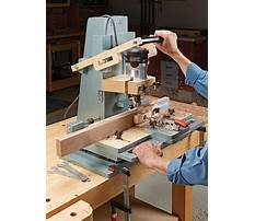 Mortise jig plans router lift Video