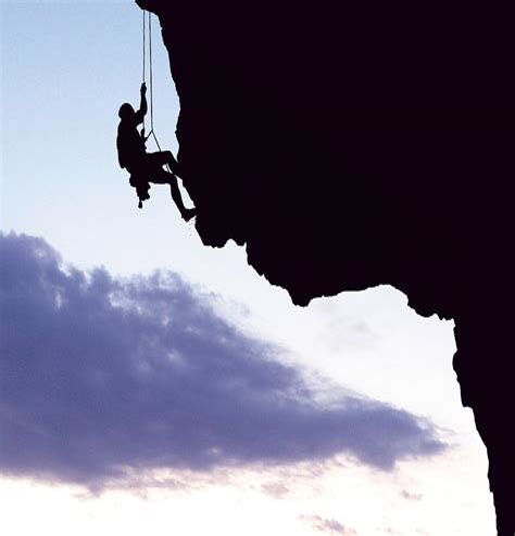 Mountain Climbing Man Art