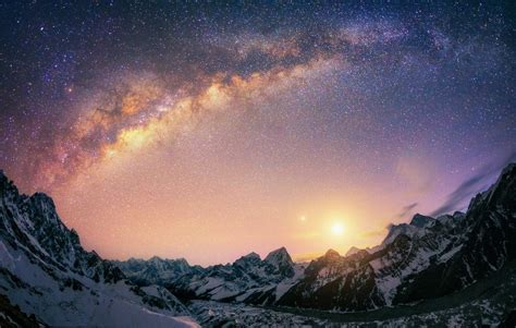 Mountains Milky Way Galaxy