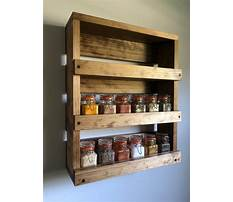 Mounted spice rack wood Video