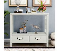 Narrow couch end table with drawers Video