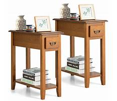 Narrow couch end tables Video