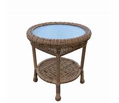 Natural wicker end tables for outside patio Video