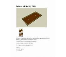 Nok hockey table plans Video