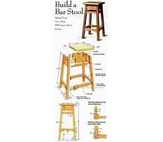 Oak stool plans Video