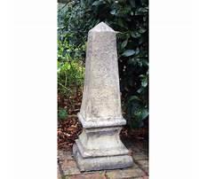 Obelisk garden ornament Video