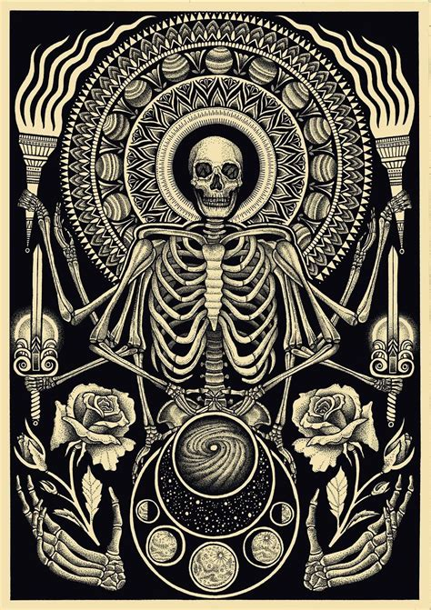 Occult Skull Drawing