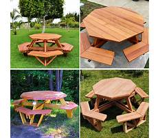 Octagon picnic table plans free Video