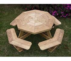 Octagon wooden picnic table plans Video