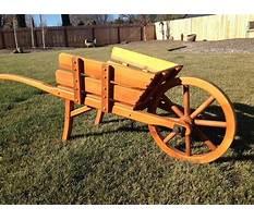 Old fashioned wheelbarrow wheels Video