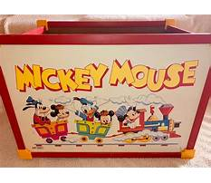 Old mickey mouse toy box Video