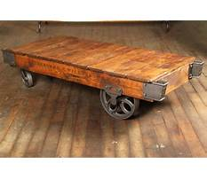 Old wooden industrial cart coffee table Video
