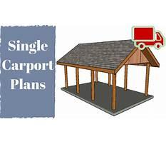 One car carport plans Video