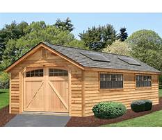 One car garage with carport plans Video