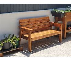 Outdoor bench building plans Video