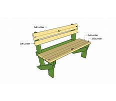 Outdoor bench plans free Video