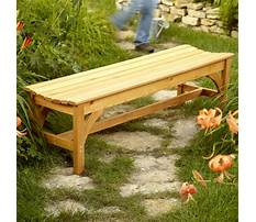Outdoor bench seat plans Video