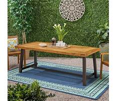 Outdoor bench with table Video