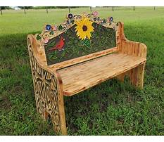 Outdoor decorative wooden benches Video