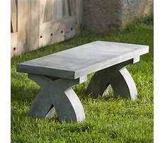 Outdoor garden benches stone Video