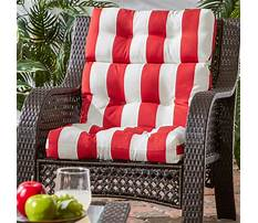Outdoor garden furniture with red cushions Video