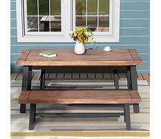 Outdoor table bench seats Video