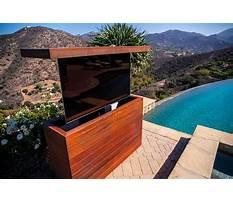 Outdoor tv lift cabinet Video