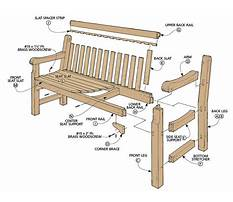 Outdoor wooden bench plans free Video