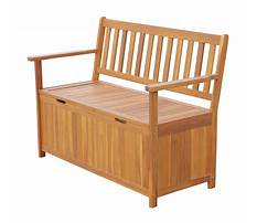 Outdoors wooden storage bench Video