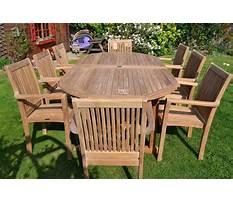 Outside wood furniture Video