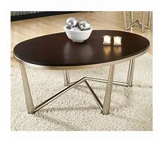 Oval coffee table wood and metal Video