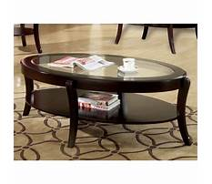 Oval coffee tables wood and glass Video