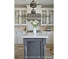 Painted kitchen island images Video